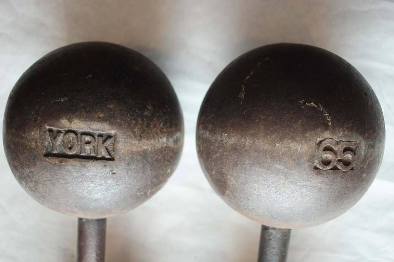 Authentic York Dumbbells For Sale At 1stdibs