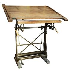 Antique French Drafting Table