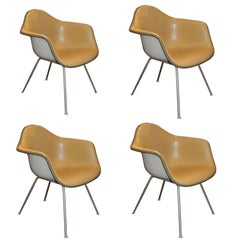 Set of Four Herman Miller Charles Eames Shell Chairs