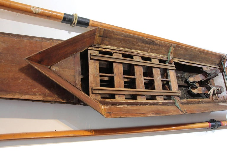 20th Century Scull Boat with Oars For Sale