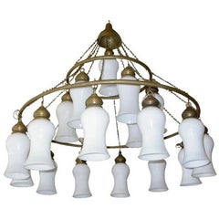 Custom Three-Tier Egyptian Teardrop Chandelier