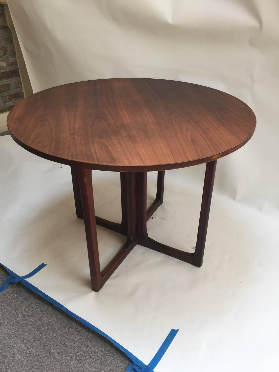 Danish modern game table and four chairs 1960s for sale for Contemporary game table and chairs
