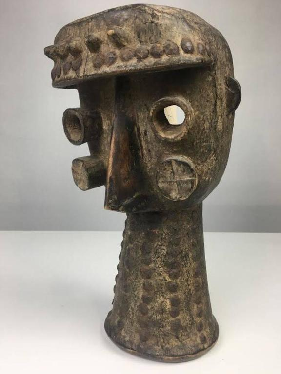 Authentic Ivory Coast African Carved Mask For Sale At 1stdibs