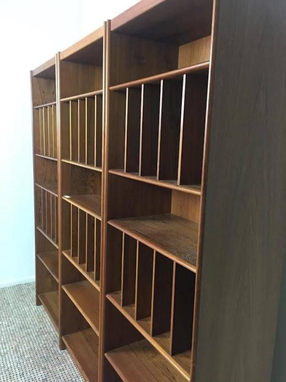 layout kitchen cabinets mid century three bookcase for at 1stdibs 22543