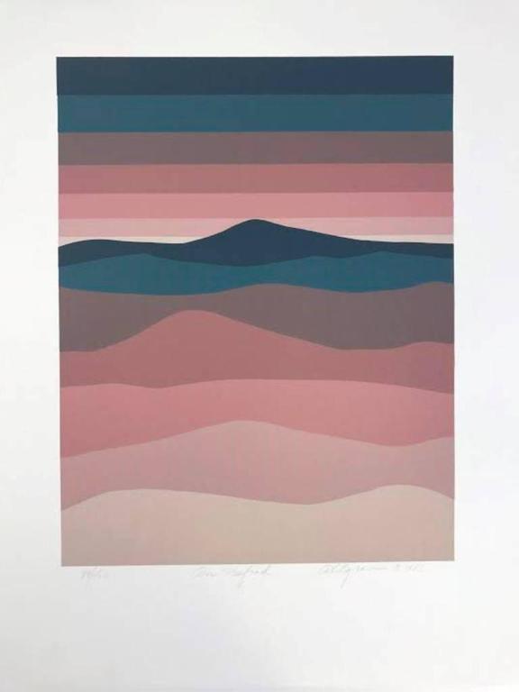 American Roy Ahlgren Silk Screen Print