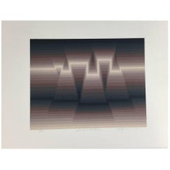 "Roy Ahlgren Silk Screen Print ""Dusk and Dawn"""