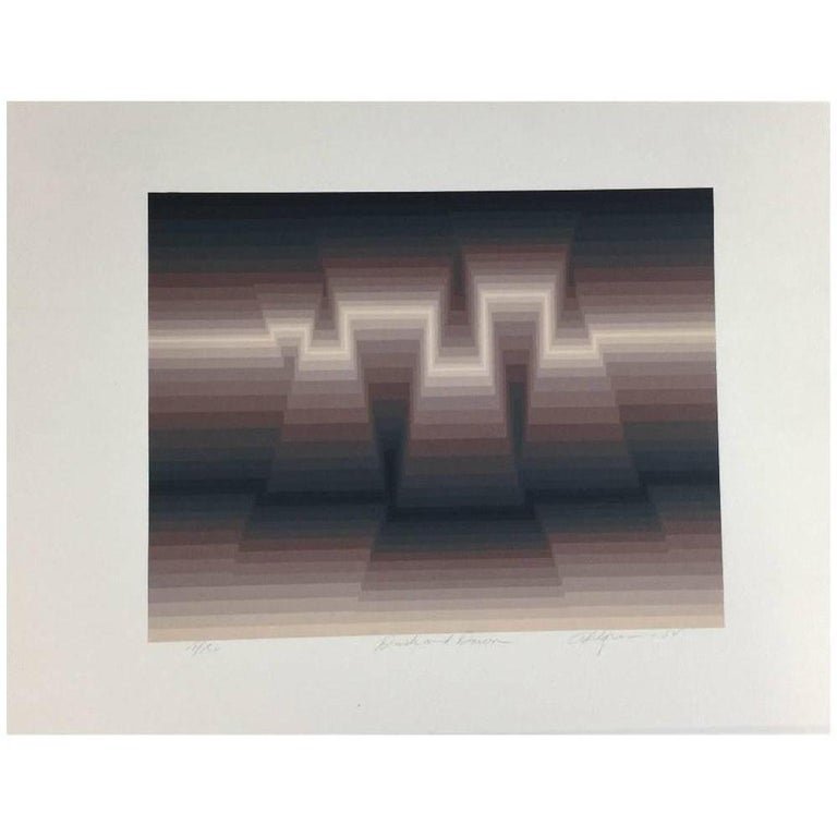 "Roy Ahlgren Silk Screen Print ""Dusk and Dawn"" For Sale"