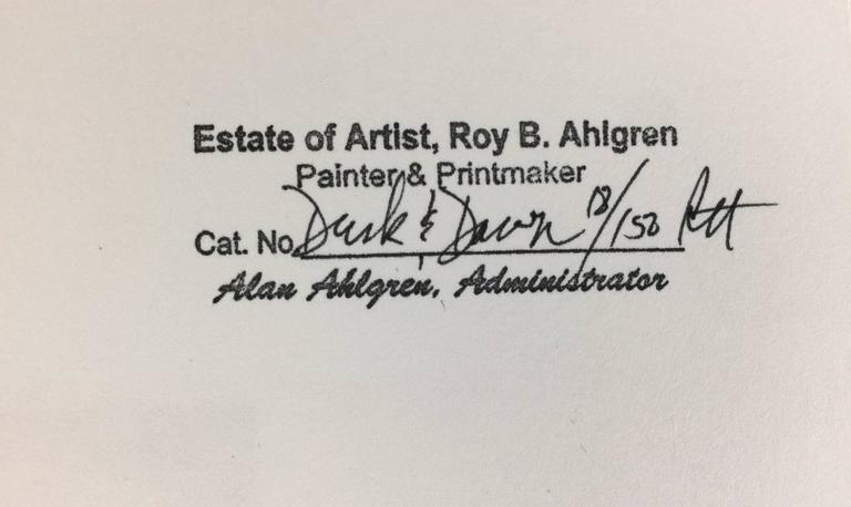 Paper Roy Ahlgren Silk Screen Print