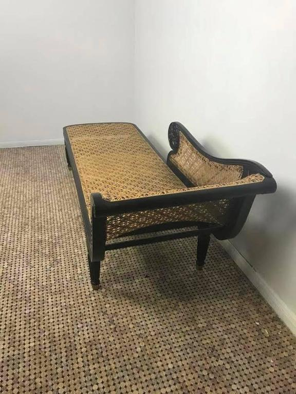 Vintage Wicker And Oiled Teak Fainting Lounge At 1stdibs