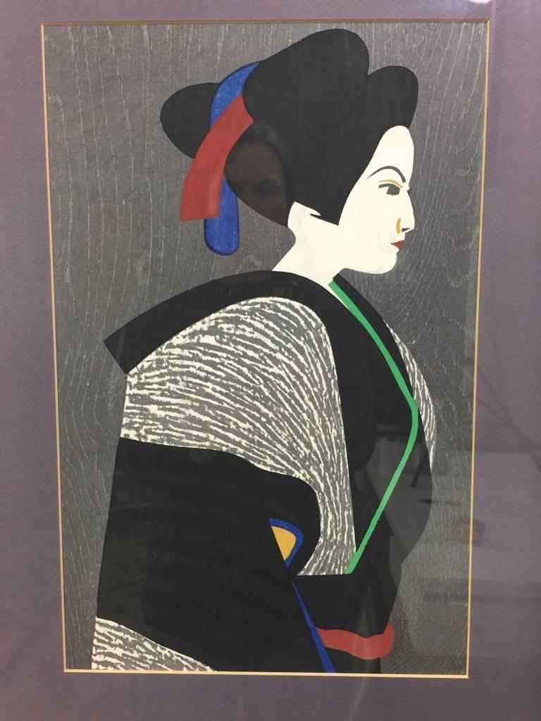 Kiyoshi Saito Japanese Woodblock Print In Good Condition For Sale In Studio City, CA