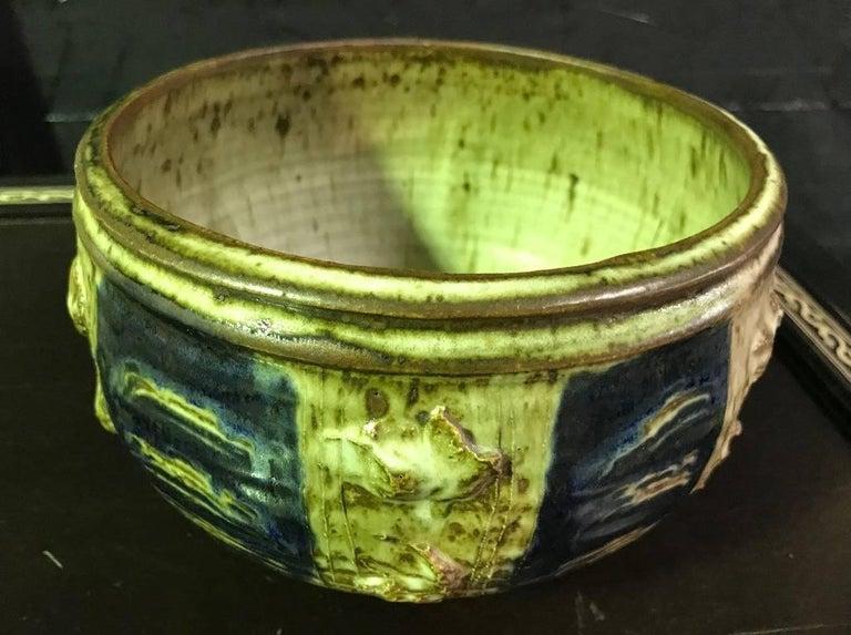 American Stunning Otto and Vivika Heino Large Hand Thrown Ceramic Bowl For Sale