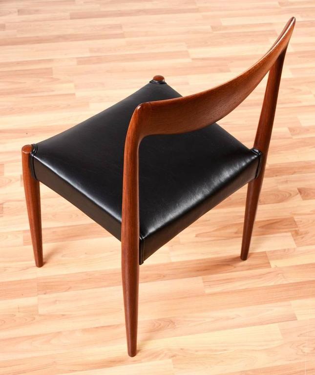 Upholstery Mid-Century Modern Gustav Bahus Bambi Danish Teak Dining Chairs For Sale