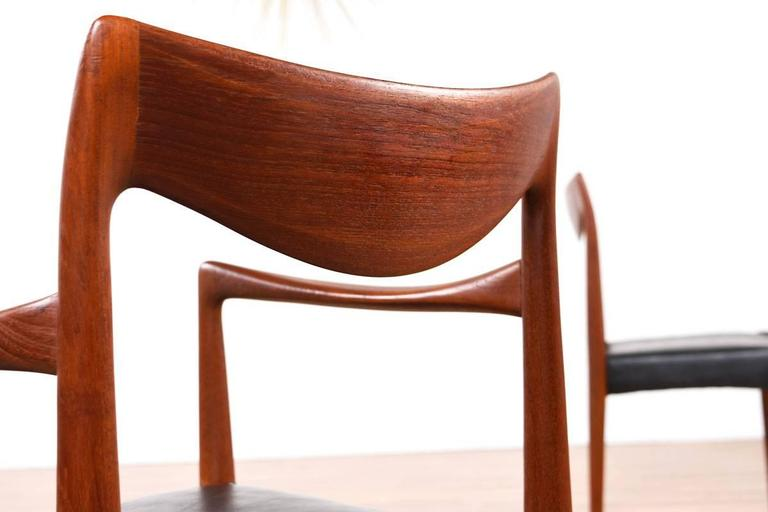 Mid-Century Modern Gustav Bahus Bambi Danish Teak Dining Chairs In Excellent Condition For Sale In Saint Petersburg, FL