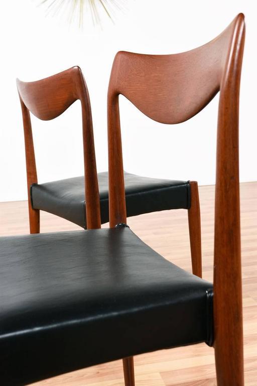 Norwegian Mid-Century Modern Gustav Bahus Bambi Danish Teak Dining Chairs For Sale