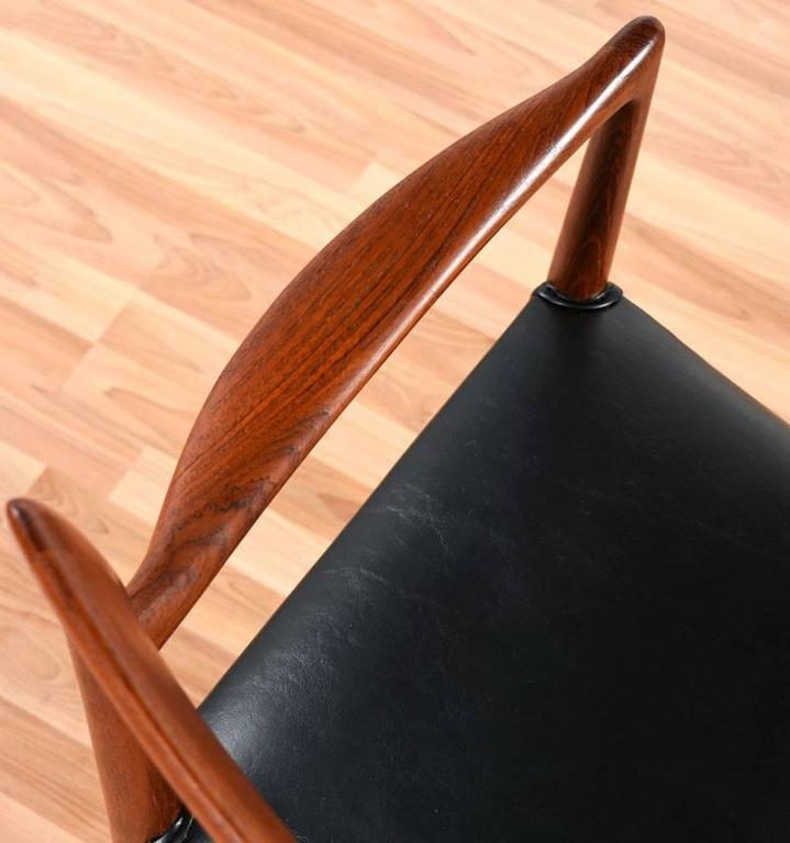 Mid-20th Century Mid-Century Modern Gustav Bahus Bambi Danish Teak Dining Chairs For Sale