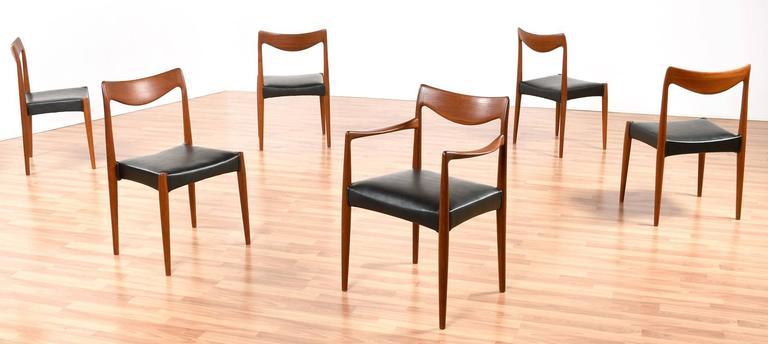 Scandinavian Modern Mid-Century Modern Gustav Bahus Bambi Danish Teak Dining Chairs For Sale