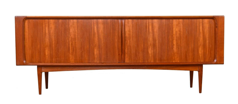Long mid century modern danish teak credenza by bernhard for Mid century furniture florida