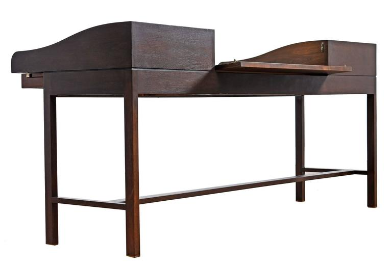 American Edward Wormley for Dunbar Executive Rosewood Roll-Top Desk For Sale