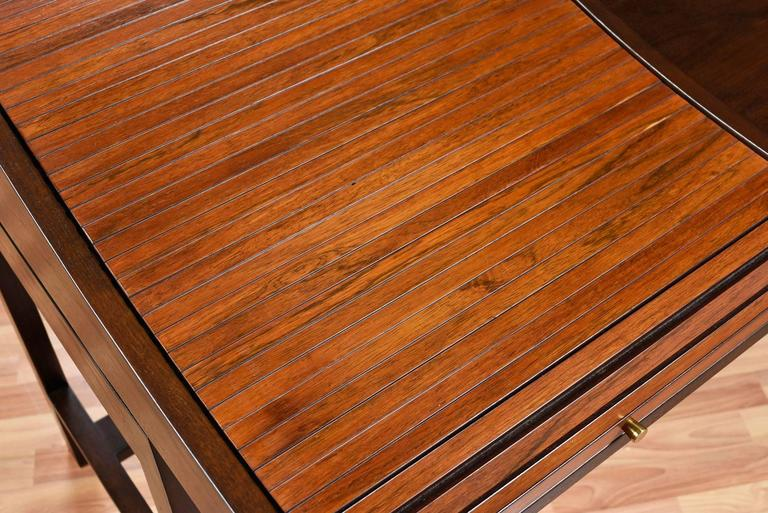 Edward Wormley for Dunbar Executive Rosewood Roll-Top Desk In Excellent Condition For Sale In Saint Petersburg, FL