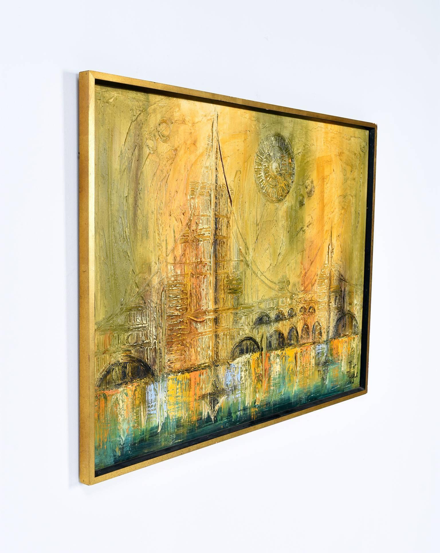 Mid-Century Oil Painting by Van Hoople at 1stdibs