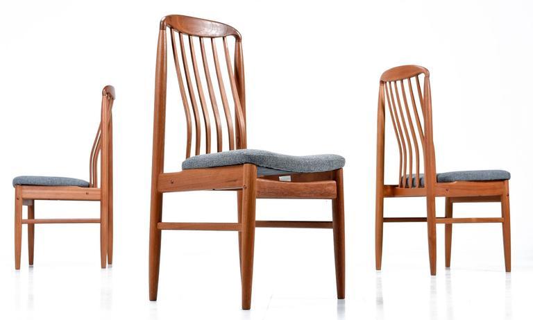 Benny Linden Teak Dining Chairs Set Of 6 Mid Century
