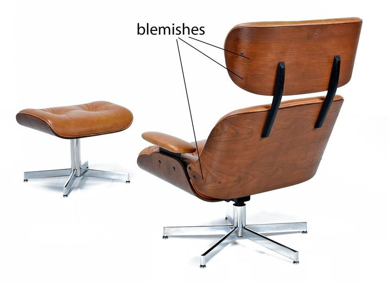 Mid Century Modern Eames Style Lounge Chair and Ottoman at 1stdibs