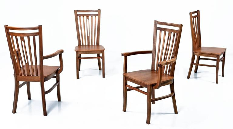Mid century modern brazilian hardwood dining chairs circa 1960s for sale at 1stdibs - Brazilian mid century modern furniture ...