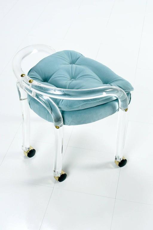 Mid Century Modern Charles Hollis Jones Style Lucite Chair