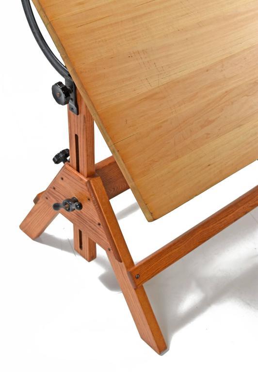 1940s hamilton oak drafting table 3