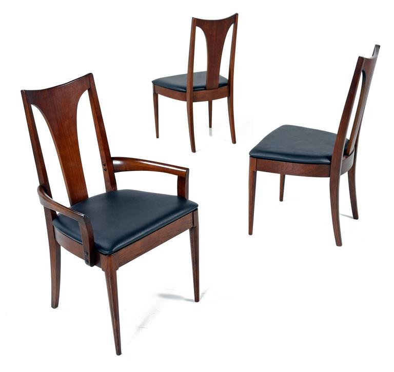 American Mid Century Modern Broyhill Saga Dining Chairs For Sale