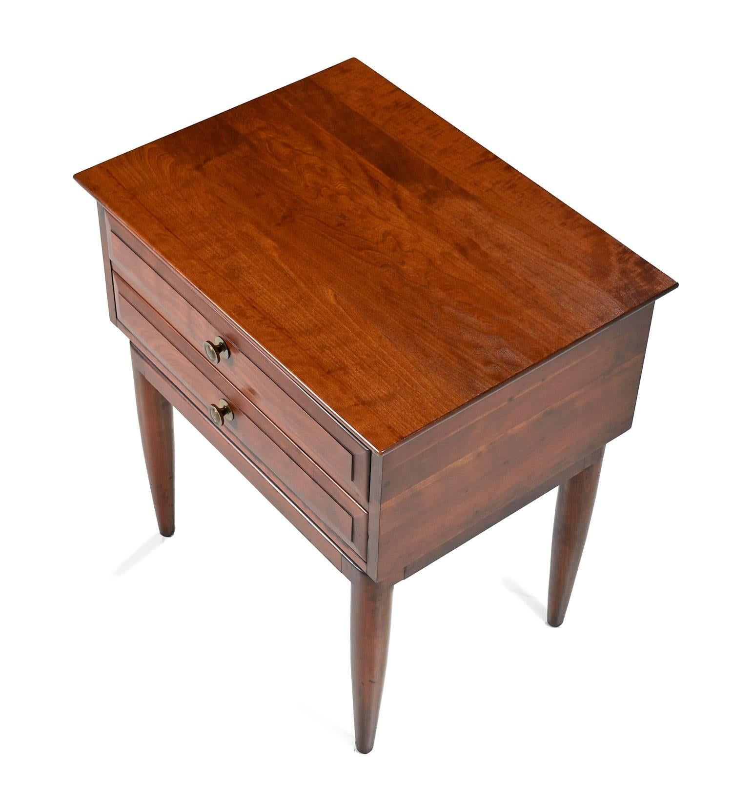 Willett Mid Century Modern Solid Cherry Nightstands Or