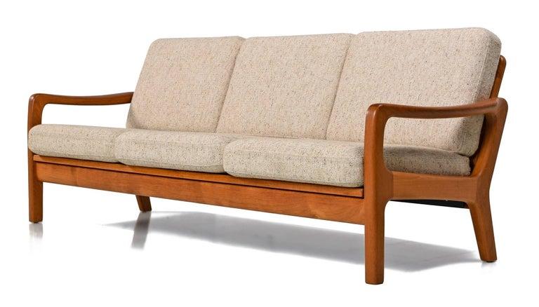 Juul Kristensen Convertible Danish Three Seat Teak Sofa Sleeper 1960s At 1stdibs