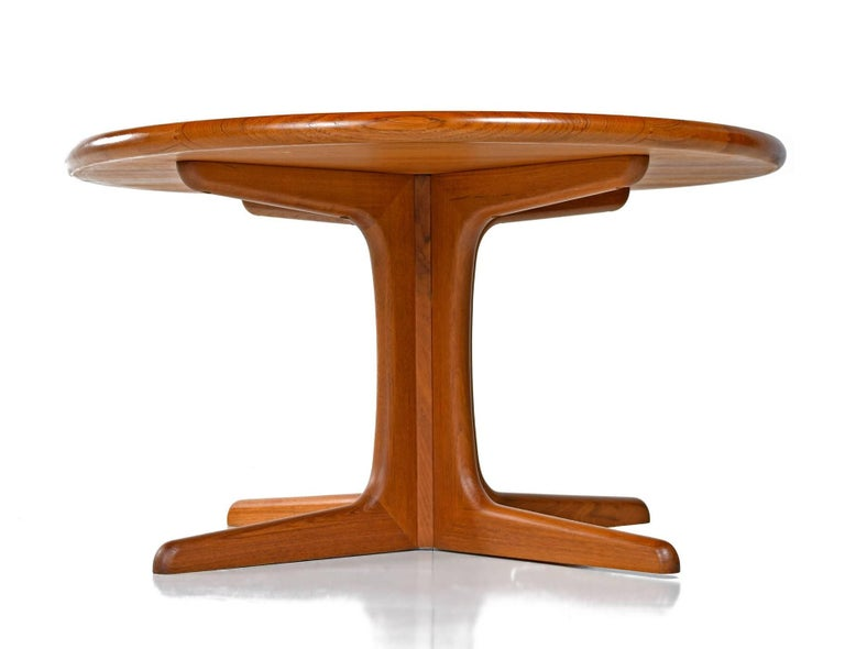 Solid danish teak round coffee table for sale at 1stdibs Solid teak coffee table