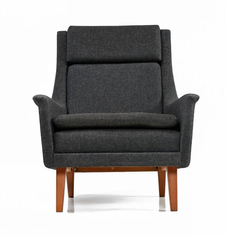 Original Scandinavian Modern Lounge Chair by Folke Ohlsson & Fritz Hansen In Excellent Condition For Sale In Saint Petersburg, FL