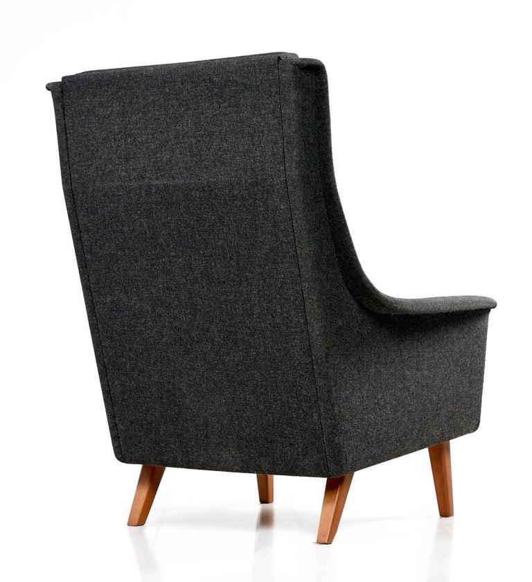 Mid-20th Century Original Scandinavian Modern Lounge Chair by Folke Ohlsson & Fritz Hansen For Sale
