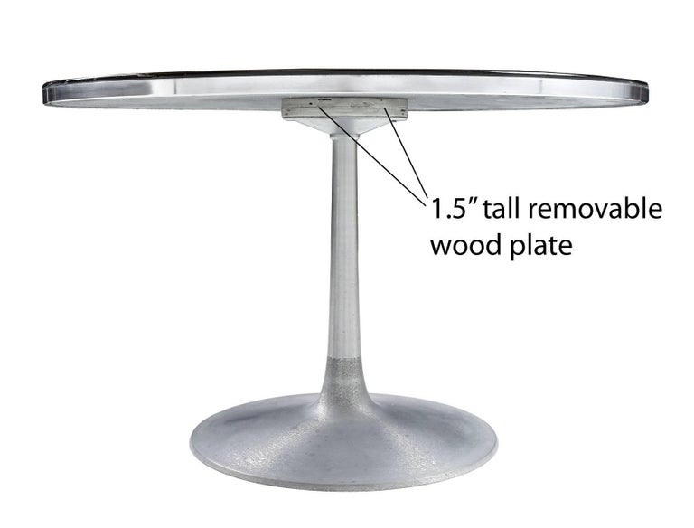 Mid-Century Modern Poul Cadovius Cado Aluminium Dining Table by Susanne Fjeldsoe AKA Mygge For Sale