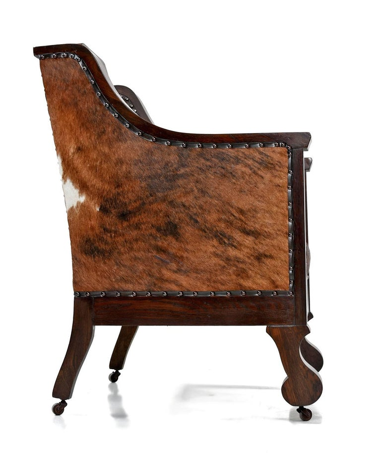 early 1800s handmade empire style leather thrown chair re. Black Bedroom Furniture Sets. Home Design Ideas