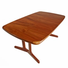 Scandinavian Modern Trestle Base Teak Extending Dining Table