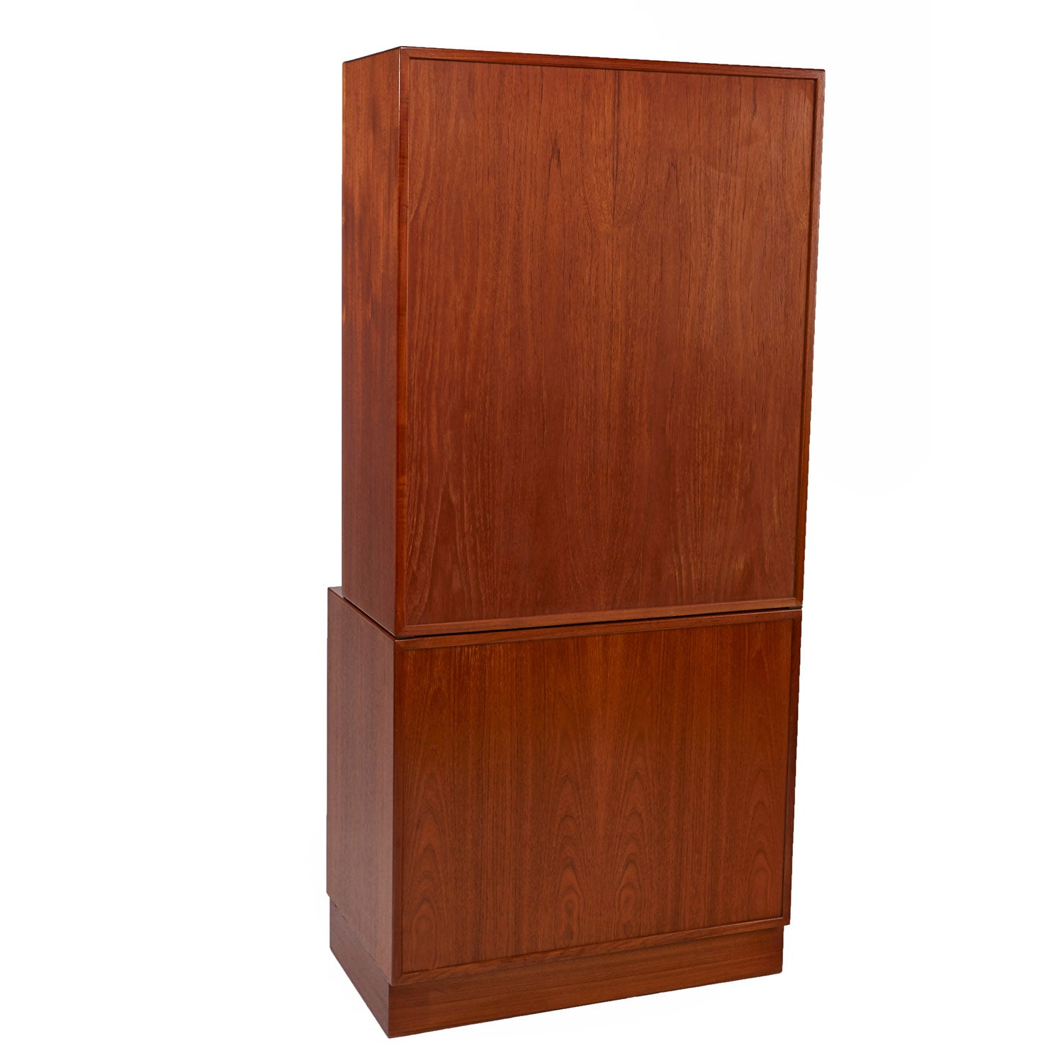 Danish Teak Bookshelf Hutch Cabinet By Lyby Mobler, Circa 1950s For Sale At  1stdibs