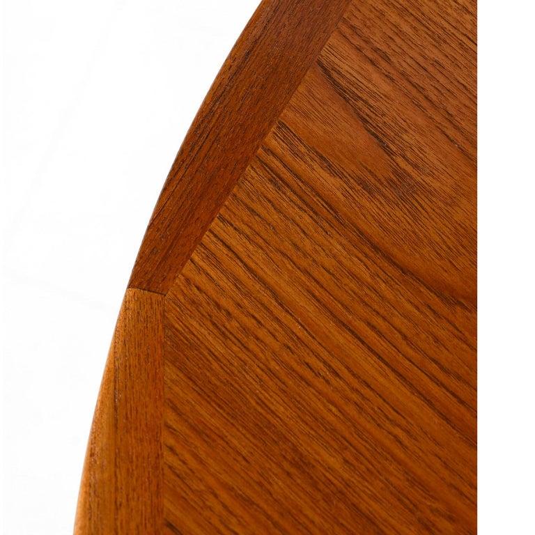 Ib Kofod Larsen Danish Teak Oval Dining Table For Sale 1