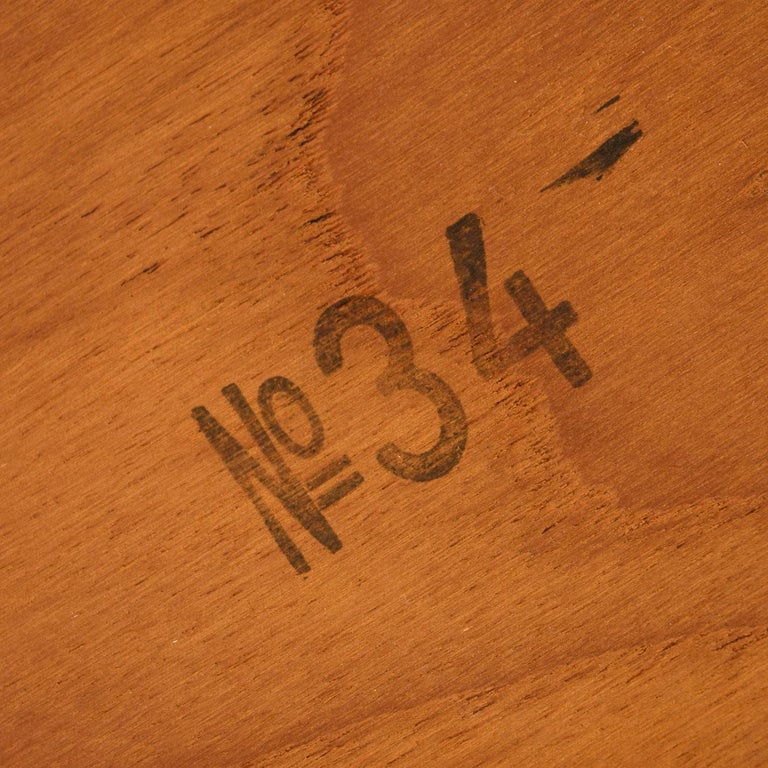 Ib Kofod Larsen Danish Teak Oval Dining Table For Sale 3