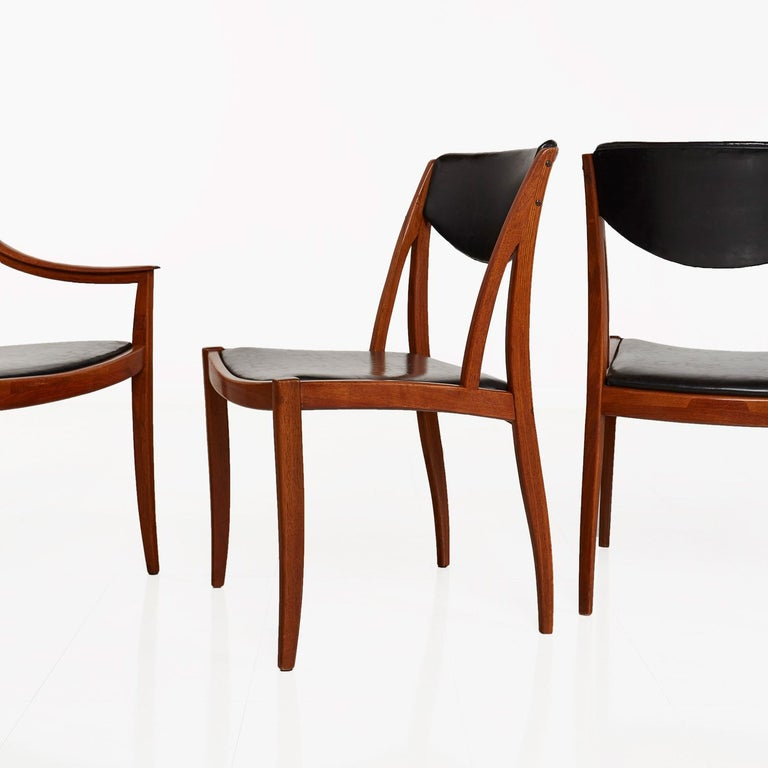 Barney Flagg For Drexel Parallel Dining Chairs For Sale At
