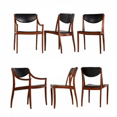 Barney Flagg for Drexel Parallel Dining Chairs