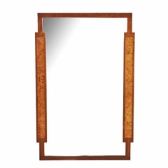 Burl Inlay Walnut Mirror by Daniel Jones Inc. of New York