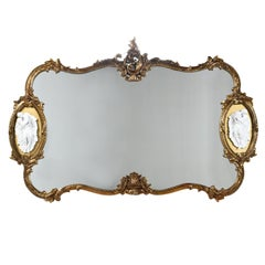Gold Giltwood Hollywood Regency Baroque Mirror