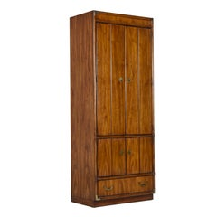 Drexel Heritage Accolade Collection Campaign Style Armoire Bookcase Cabinet