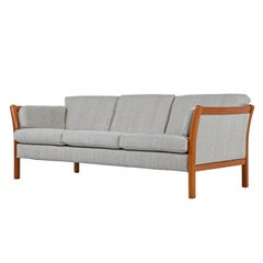 Stouby Sofa 3-Seat Couch – Danish Modern Sofa with Teak Frame