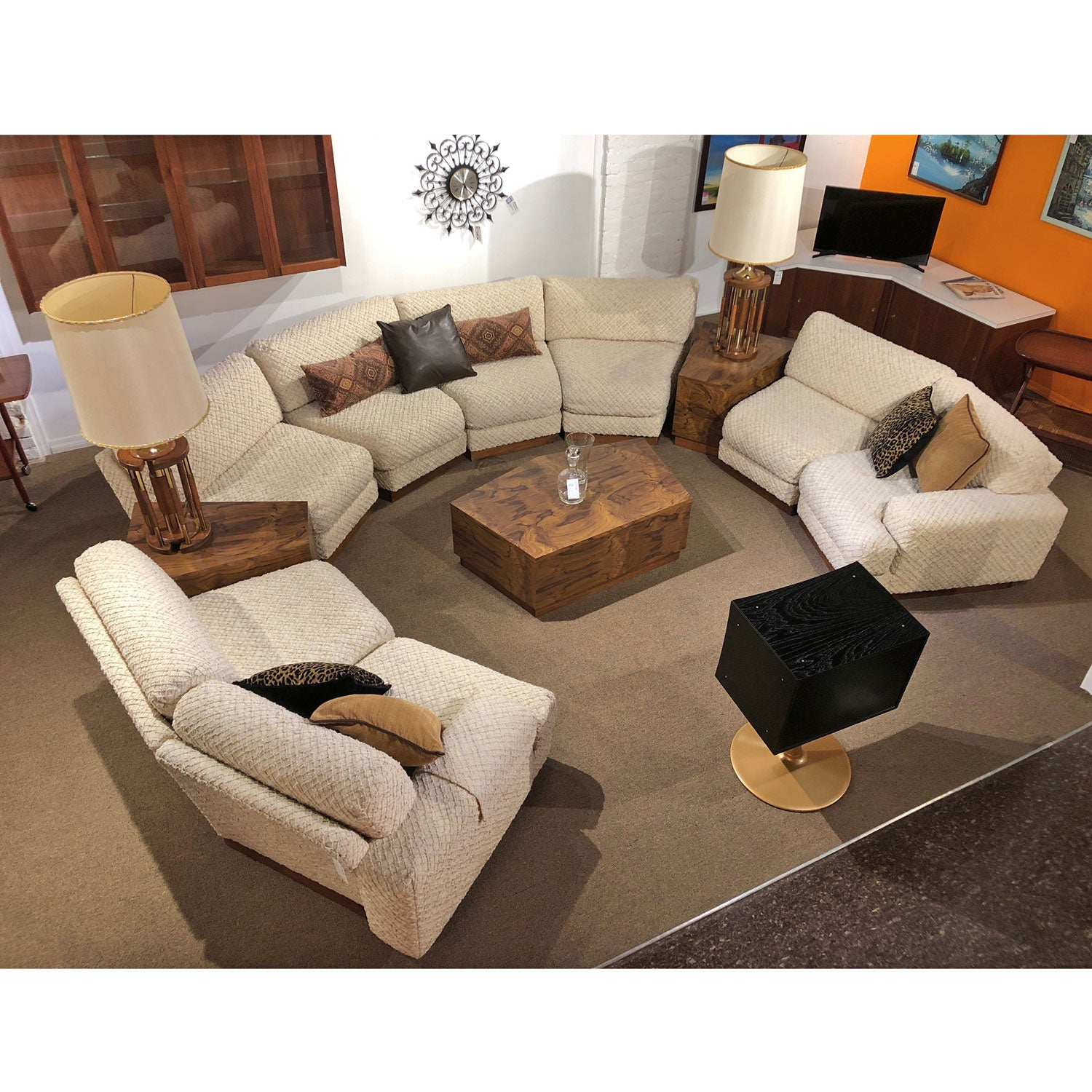 Sectional Sofa Couch And End Tables