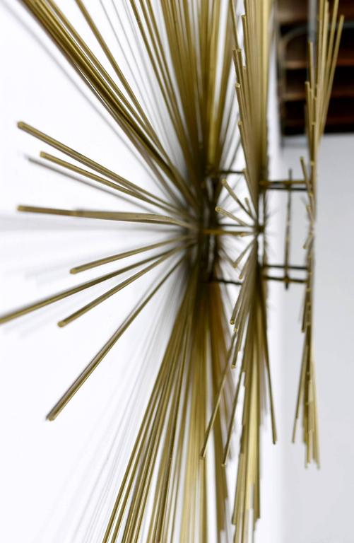 American Curtis Jere Style Sunburst Wall Sculpture For Sale
