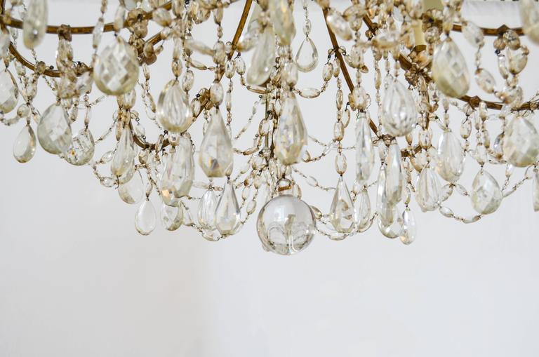 Large Vintage 1930s Crystal Chandeliers For Sale At 1stdibs